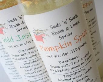Pumpkin Spice Air Freshener - Room and Linen Spray - Odor Eliminator - Bathroom Deodorizing Spray - Natural