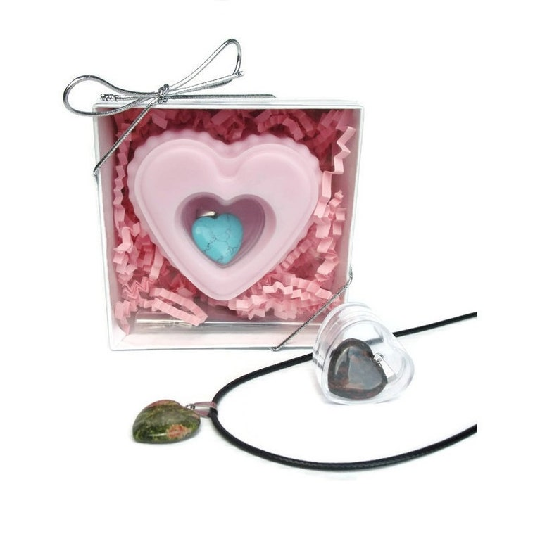 Heart Soap with Jewelry Surprise Inside  Pink Heart Scented image 0
