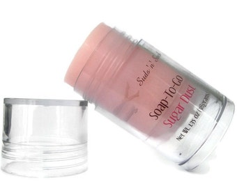 Sugar Dust Soap-To-Go - Travel Soap in a Tube - Phthalate Free Fragrance - Pink Sugar Dupe - Vegan Soap - Travel Sized - Push Tube - Pink
