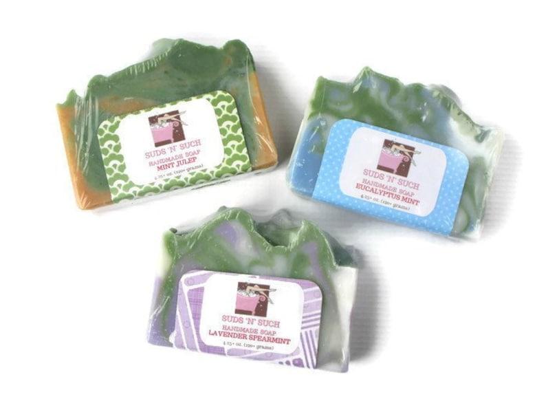 Mint Lover's Soap Set  Contains Eucalyptus Mint Lavender image 0