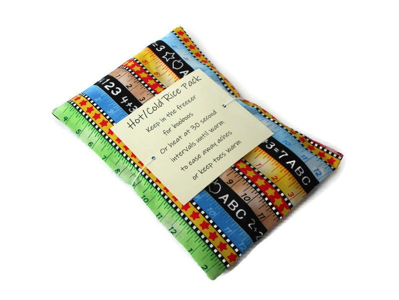 Hot or Cold Rice Pack with ABC and 123 Print Cotton Fabric  image 0