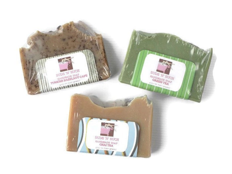 Beverage Soap Set  Contains Green Tea Chai Tea and Turkish image 0