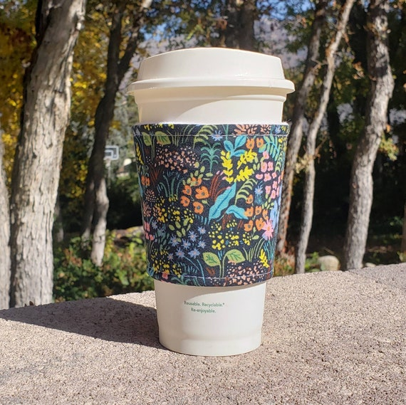 Cotton Reusable Coffee Gift Social Distancing Tumbler Cozy Large Eco-Friendly Coffee Sleeve Iced Coffee Cozy Funny Gift Coffee Cozy