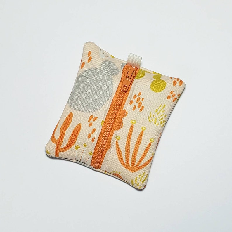 Tiny zipper pouch / earbud case / earbud pouch / coin pouch  image 0