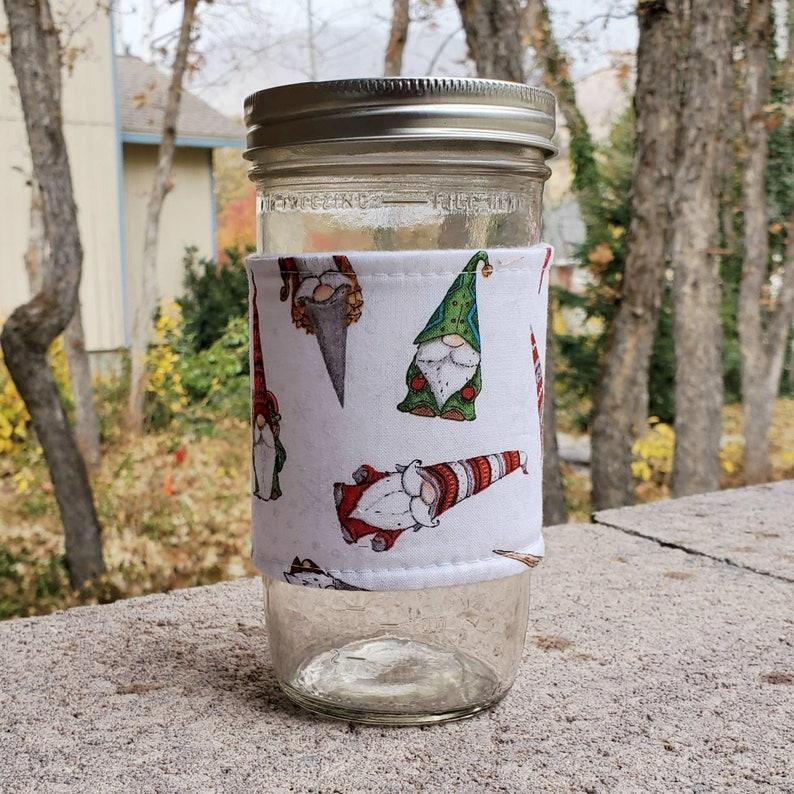 Mason jar cozy / mason jar sleeve  24oz quart pint half-pint image 0