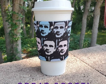 Hot or Iced Fabric coffee cozy / cup sleeve / coffee sleeve / coffee cup holder / The Office Michael Scott