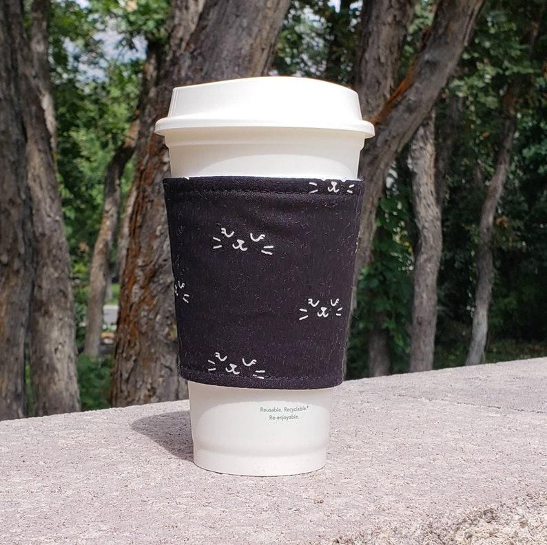 Hot or Iced Fabric coffee cozy / cup sleeve / coffee sleeve  / image 0