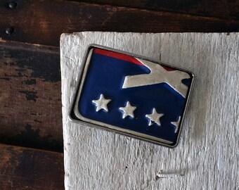 Boucle de ceinture de plaque d immatriculation du Michigan - MI 76 plaque  d immatriculation - patriotique - rouge, boucle de ceinture bleue   blanche 21e21cbc4b5