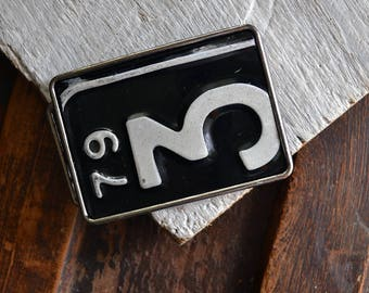 Number Three Licence Plate Belt Buckle - Michigan Belt Buckle - Motor City - Michigan License Plate - Men's Belt Buckle - Recycled