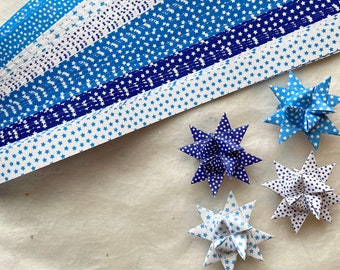 Blue Stars~ Froebel Weaving Star Paper (50 strips)
