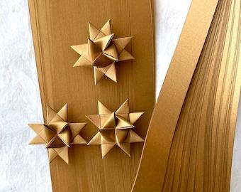 Shimmer Antique Gold~ Moravian German Froebel Star Paper (50 strips)