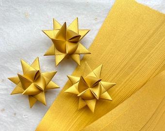 Shimmer Fine Gold~ Moravian German Froebel Star Paper (50 strips)