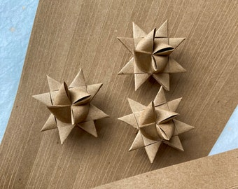 Brown Kraft Paper Bag~ Moravian German Froebel Star Paper (48 strips)