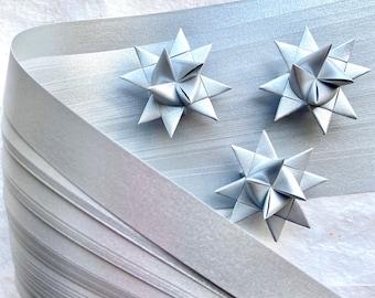 Shimmer Silver~ Moravian German Froebel Star Paper (48 strips)