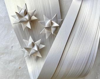 Shimmer Quartz~ Moravian German Froebel Star Paper (50 strips)