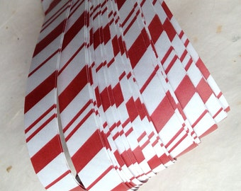 """3/4"""" Weaving Paper Star Strips ~Candy Cane Stripes (52 strips)"""