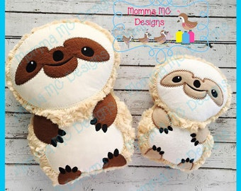 Sloth Softie Machine Embroidery File