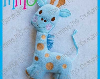 Giraffe Softie Machine Embroidery File