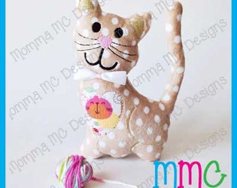 Kitten Softie Machine Embroidery File