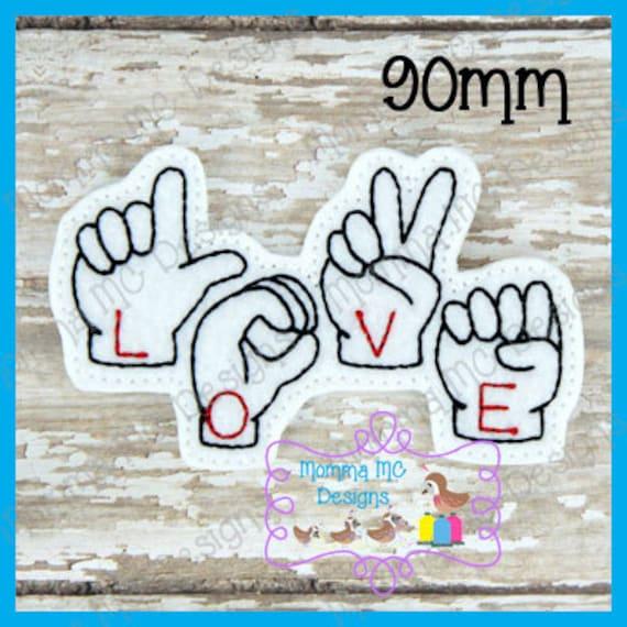 Lenguaje americano de señas ASL amor sentía diseño del bordado | Etsy