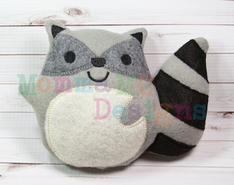 Raccoon Softie Embroidery Design