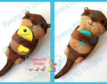 Otter Softie Machine Embroidery File