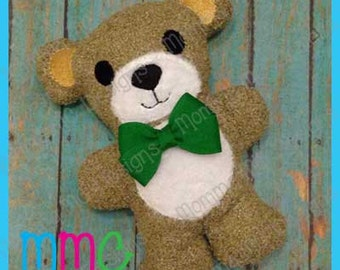 Teddy Bear Softie Machine Embroidery File