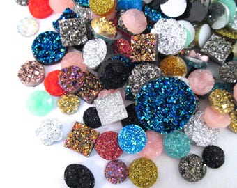 Assorted Resin Druzy Mix, Pick Your Amount, H129
