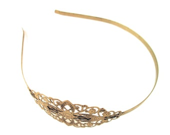 1 brass filigree headbands with a 75x35mm pad, lead and nickel free