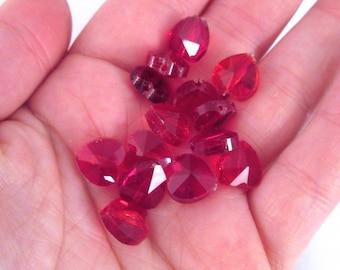 5 Czech glass heart beads, choose your color 10x14mm, A303