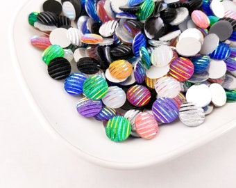 32 Pcs Assorted Iridescent Wrapped Candy Beads 22x10mm