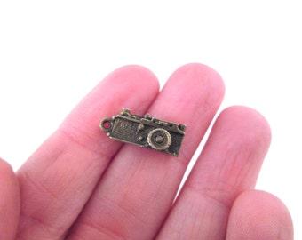 SALE 10 Brass camera charms 7x17.5mm, D90