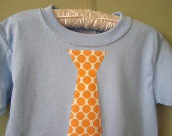 Orange Polka Dot Necktie Shirt 2T READY TO SHIP