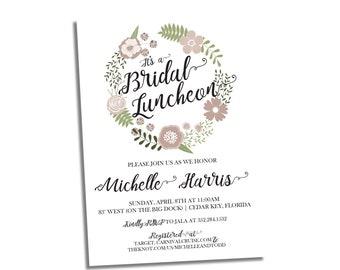 Wildflower Bridal Shower Invitation - Invite for Rustic Bridal Shower - Bridal Shower Invite - Custom Wildflowers Invitation