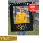 1st Day of School Sign - Back to School Photo Prop - Chalkboard - Teacher Photo Prop - Classroom Sign Photo Frame - DIGITAL FILES ONLY