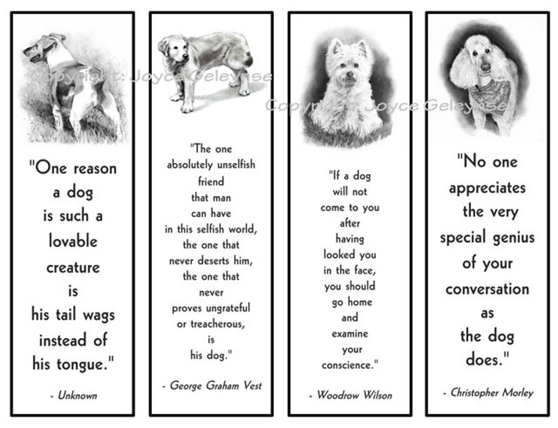photograph regarding Printable Bookmarks Black and White named Printable Bookmarks, Pet dogs in just Pencil With Offers Regarding Puppies, Black and White, Westie, Terrier, Retriever, Poodle, Canine Followers