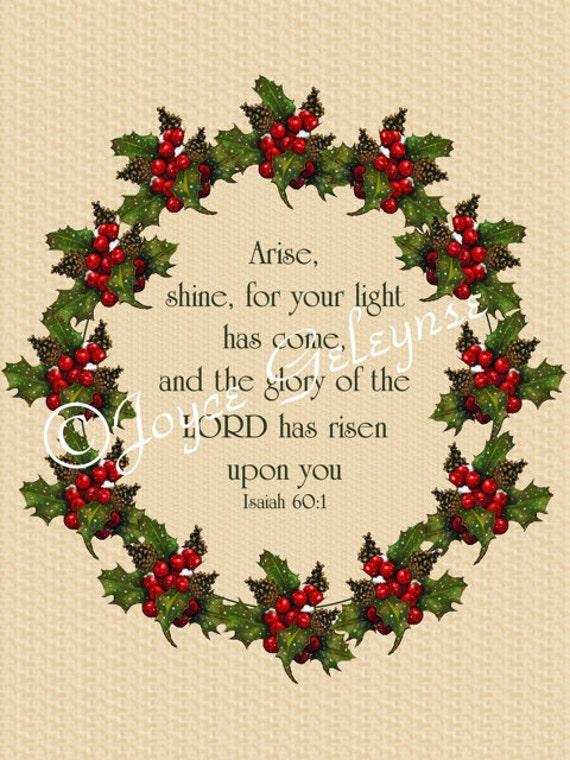 Druckbare Weihnachtskarte Bibel-Vers Jesaja | Etsy
