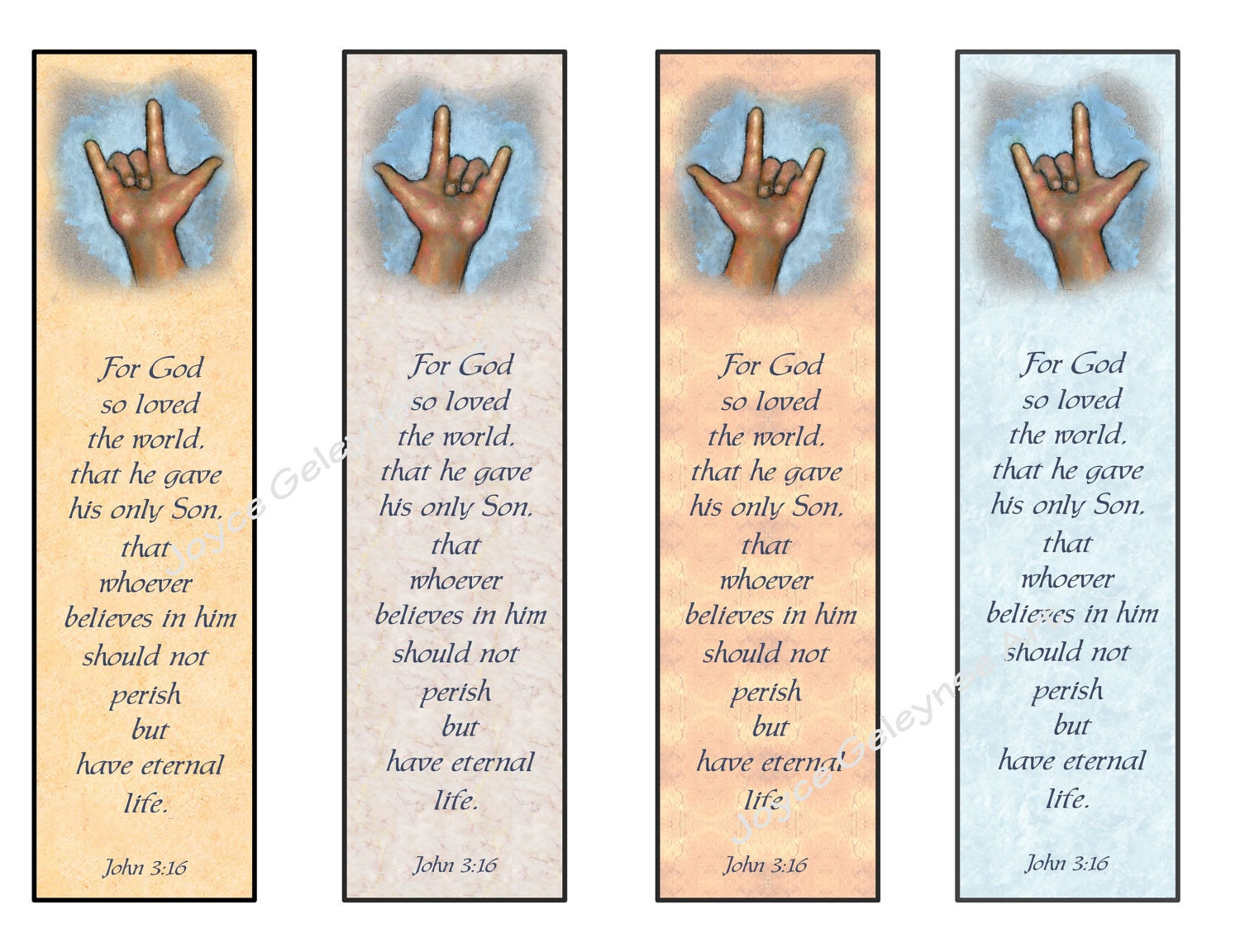 instant printable bookmarks love sign language bible verse | etsy