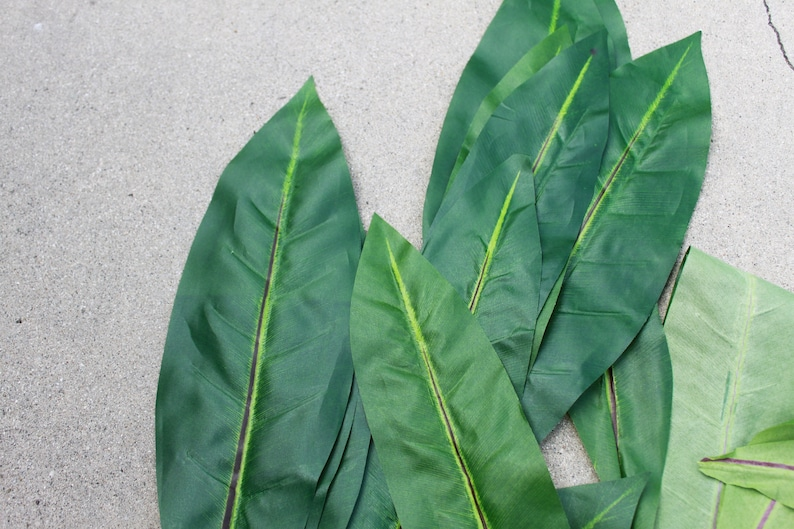 Silk Ti Leaves for Polynesian Costumes Crafts and image 0