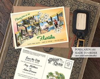 Save the Date - Ft. Lauderdale, Florida - Vintage Large Letter Postcard - Design Fee