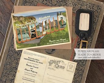 Save the Date - Ireland - Vintage Large Letter Postcard - Design Fee