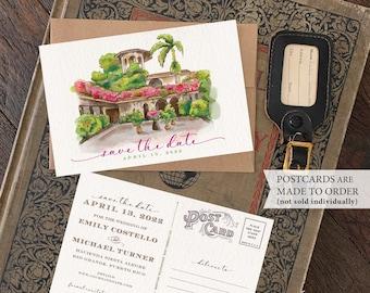Save the Date - Rio Grande, Puerto Rico - Watercolor Postcard - Design Fee