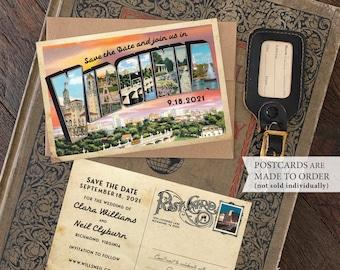 Save the Date - Richmond, Virginia - Vintage Large Letter Postcard - Design Fee
