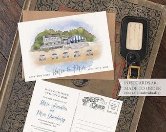 Save the Date - Cape Cod, MA - Watercolor Postcard - Design Fee