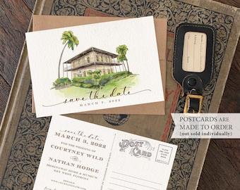 Save the Date - Hemingway Home, Key West Florida - Watercolor Postcard - Design Fee