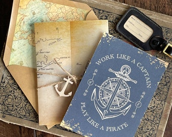 Nautical Vellum 50th Birthday Invite (Party Like a Pirate) - Design Fee