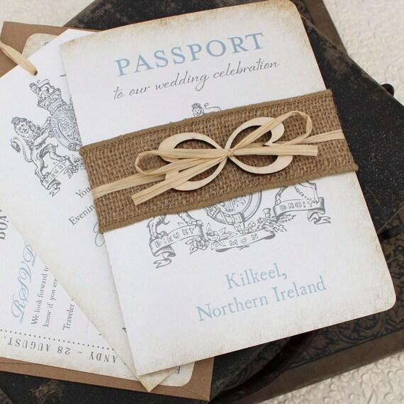 Ireland Crest Passport Wedding Invitation Kilkeel Ireland