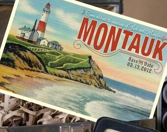 Vintage Travel Postcard Save the Date (Montauk, NY) - Design Fee