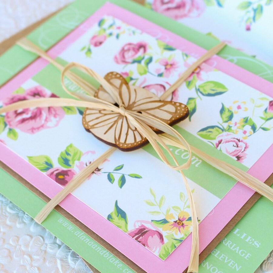Garden Wedding Invitation Ideas: Elegant Garden Wedding Invitation White Ink Design Fee