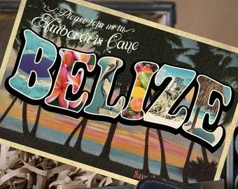 Vintage Large Letter Postcard Save the Date (Belize) - Design Fee